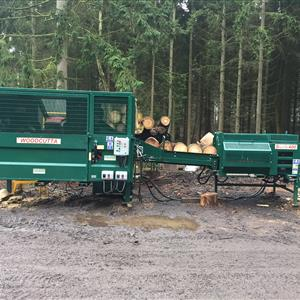 Used Fuelwood Factory - With Splitta 400 & Japa 3 Chain Timber Deck