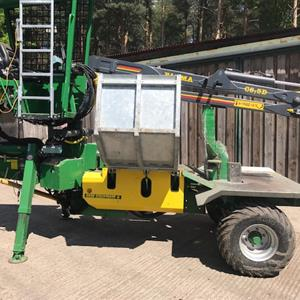 Stockmann HL4000FW 40 Ton Splitter With Farma Crane
